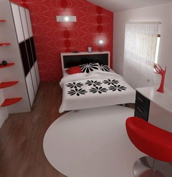 Etonnant Bedroom Freshome 1 Inspiring Contemporary Bedroom In Red, Black And White