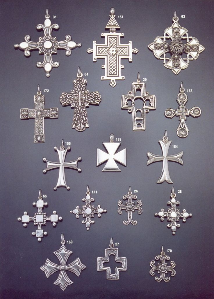 Byzantine crosses by the Greek Jewelry Shop.