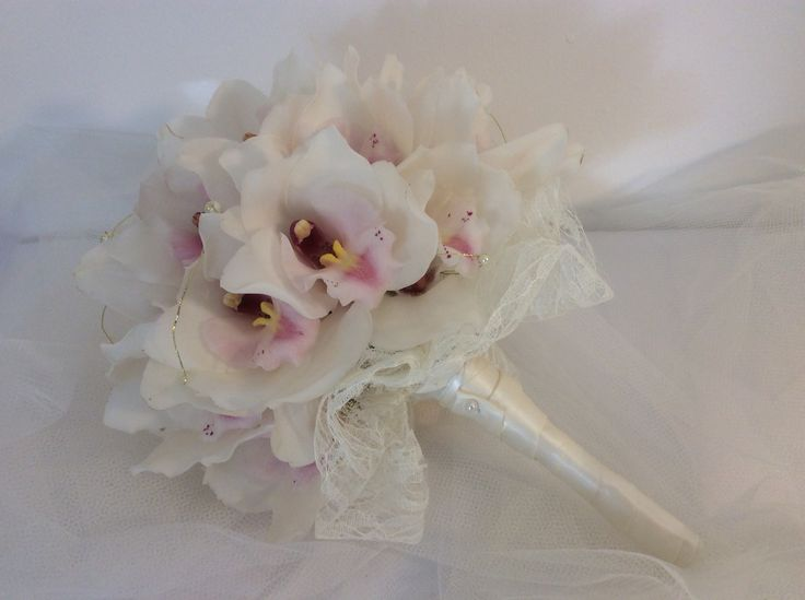 Wired Bouquet Of Beautiful Fresh Cymbidium Orchids For Equally Donegal Bride Ailinsflowers