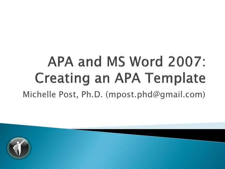 apa word templates