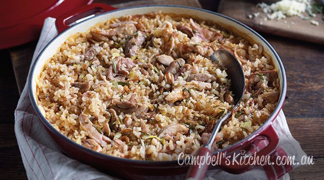Manu's oven baked chicken risotto #RealStock #MadefromScratch #Recipes