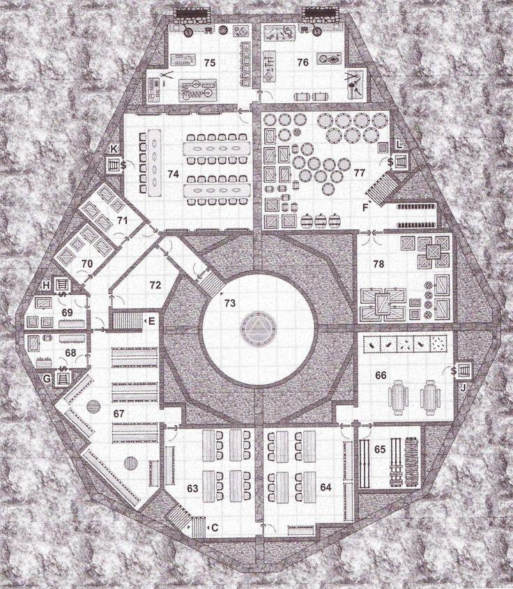 Temple basement 4 of 4 rpg maps pinterest basements for Floor 2 dungeon map