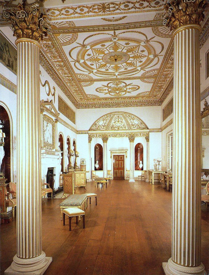 Dining room at Syon House by Robert Adam
