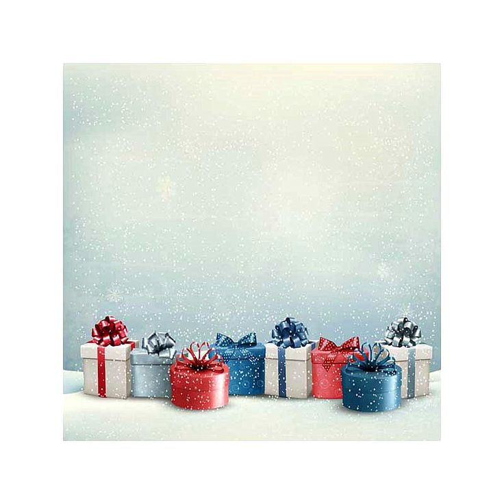 5x7 Christmas Photography Background Newborn White Snow Ice Blue Red Star Backdrop for Xmas Party Family Photo Booth Props