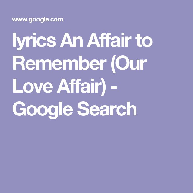 Nat King Cole - An Affair To Remember Lyrics | MetroLyrics