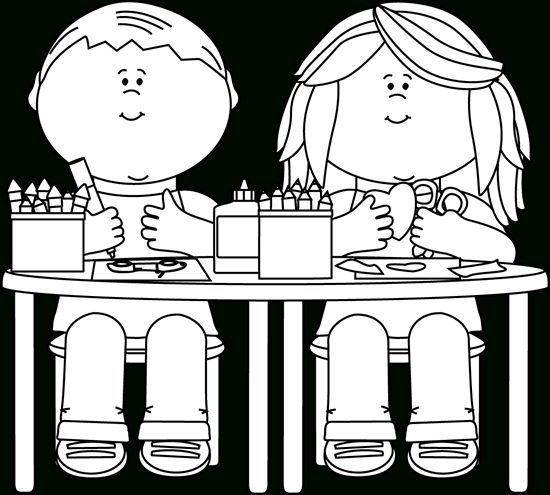 Back To School Clipart Black And White Teachers And Students And Regarding Student Clipart Black And Coloring Pages Kid Coloring Page Clipart Black And White