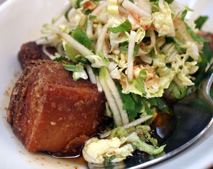Red Spice Road.  City.  McKillop Street.  The pork belly with chilli caramel and apple slaw is to die for!