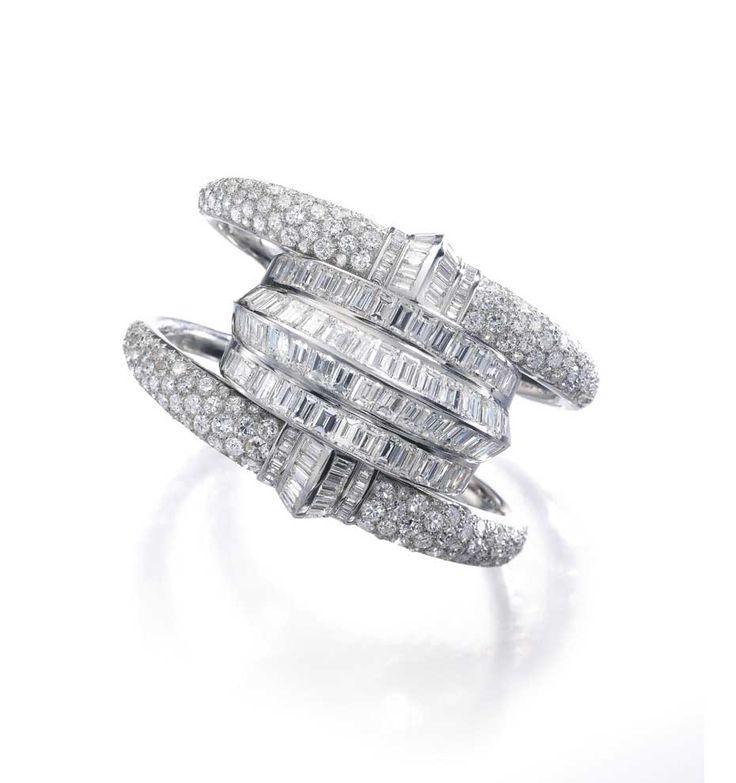 Suzanne Belperron diamond cuff bracelet (estimate: $125-190,000)