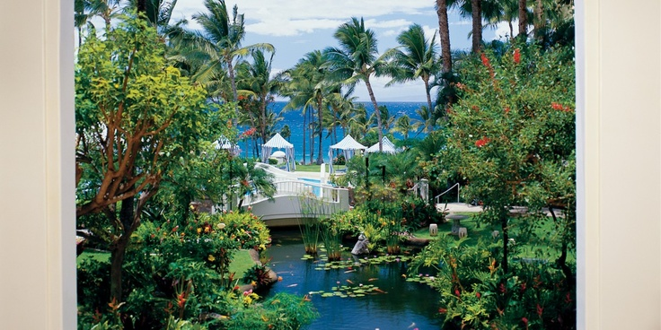 The 22-acre grounds are dotted with tropical gardens and koi ponds. #Jetsetter