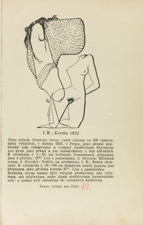 JINDŘICH ŠTYRSKÝ AND TOYEN EROTICKÁ REVUE, ROČNÍK 1 (-TŘETÍ). PRAGUE, 1930-1933 Estimate  3,000 — 4,000  GBP  LOT SOLD. 3,750 GBP