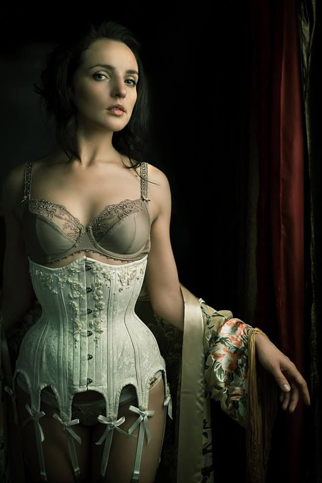 """Scarlett"" Bra by Rosa Faia Corset by Dark Garden Photo © Joel Aron Model: Anastasia Bachykala"