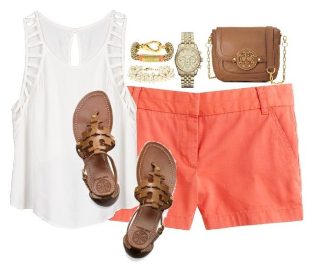 """""""I need summer"""" by classycathleen ❤ liked on Polyvore featuring J.Crew, Lush Clothing, Michael Kors and Tory Burch"""