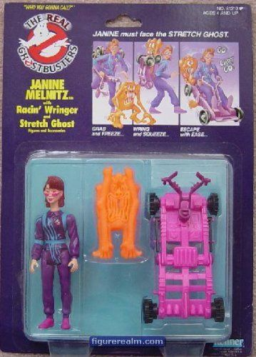 Kenner the Real Ghostbusters Janine with Racin Wringer and Stretch Ghost @ niftywarehouse.com #NiftyWarehouse #Ghostbusters #Movie #Ghosts #Movies #Film