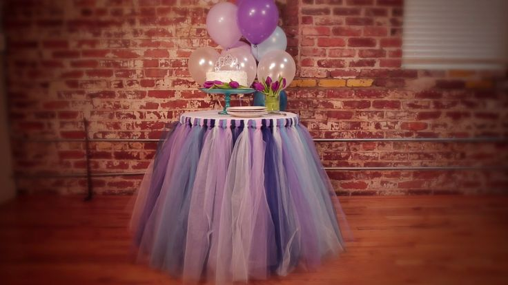 No-Sew Tulle Tutu Table Skirt