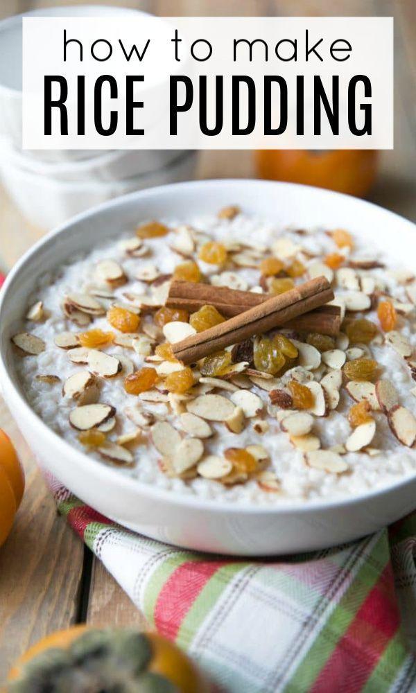 Easy Rice Pudding Recipe | Recipe | Recipes, Homemade ...
