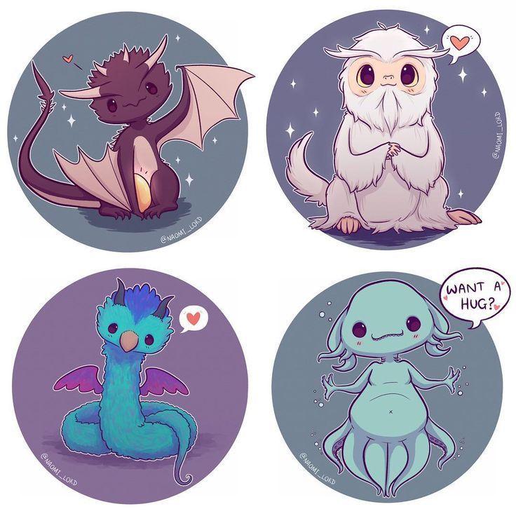 Related Image Animales Fantasticos Dibujos Bonitos Dibujos Kawaii