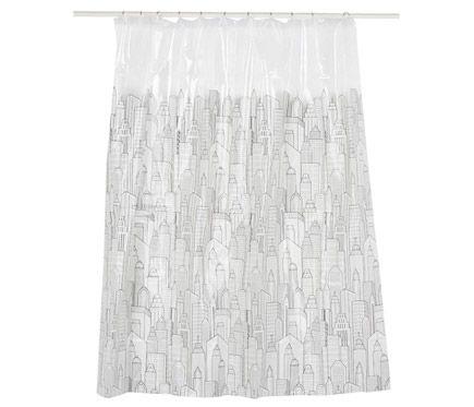 16 best cortina de ba o images on pinterest bathroom - Cortinas en blanco y negro ...