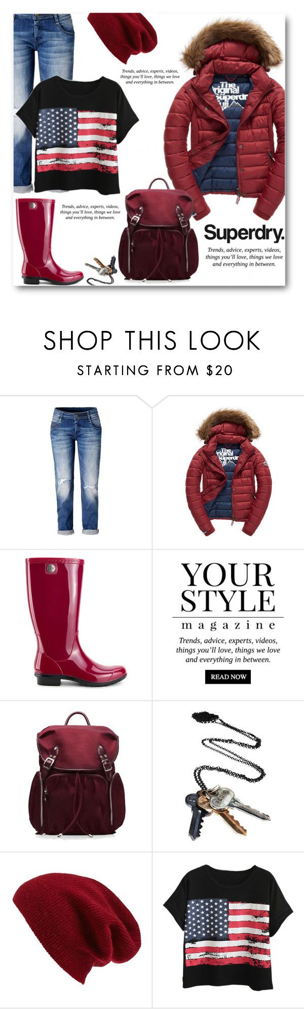 """The Cover Up – Jackets by Superdry: Contest Entry"" by din-fashion ❤ liked on Polyvore featuring Fuji, UGG, Pussycat, M Z Wallace, Stolen Girlfriends Club, Superdry, Halogen and Chicnova Fashion"
