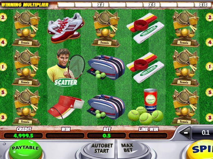 Lass uns unsere Neusten drehen kostenlos online Spielautomat Tennis Champion - http://freeslots77.com/de/tennis-champion/