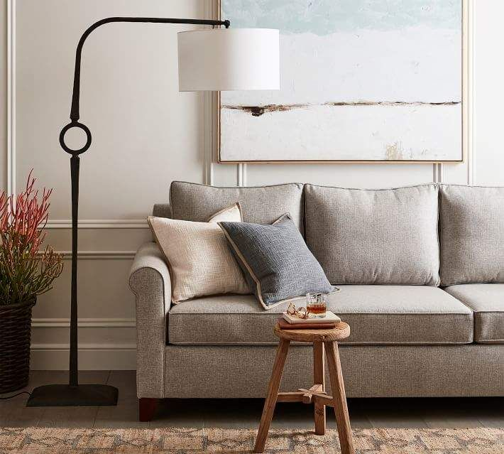 Easton Forged Iron Sectional Floor Lamp In 2019 Floor Lamp