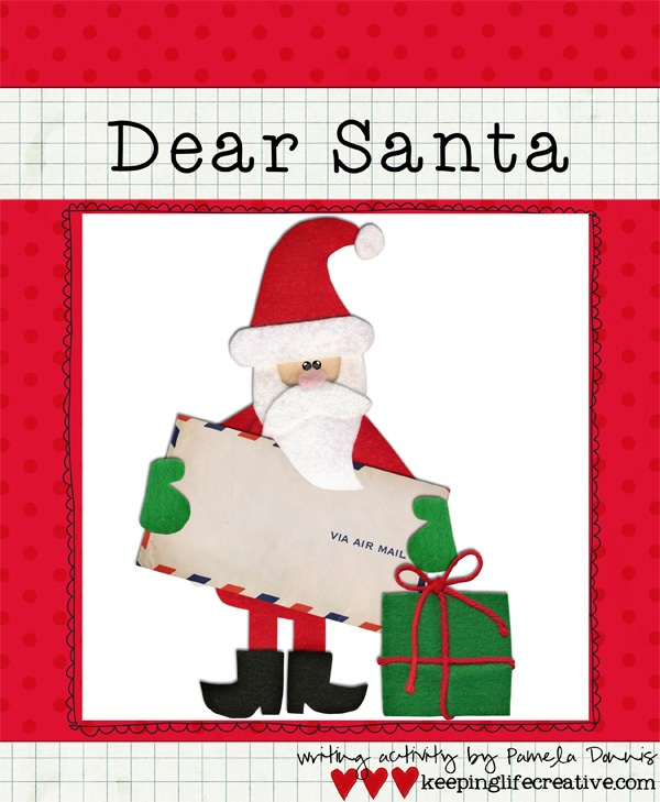 Letter to Santa activity for parent/teachers/homeschoolers to do with their kids!  Awesome lesson plan!