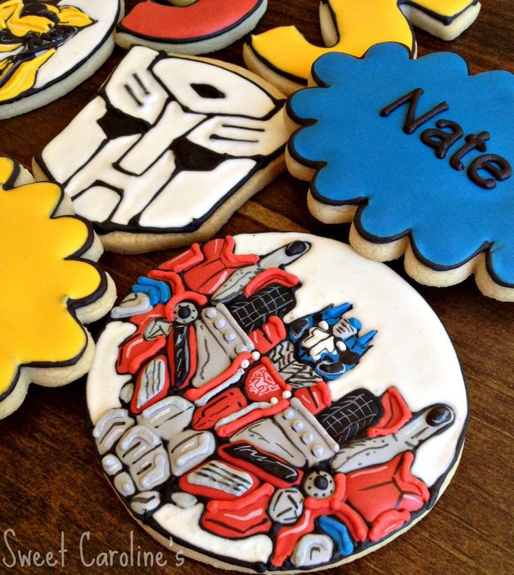 Assorted Transformers Cookies | Cookie Connection