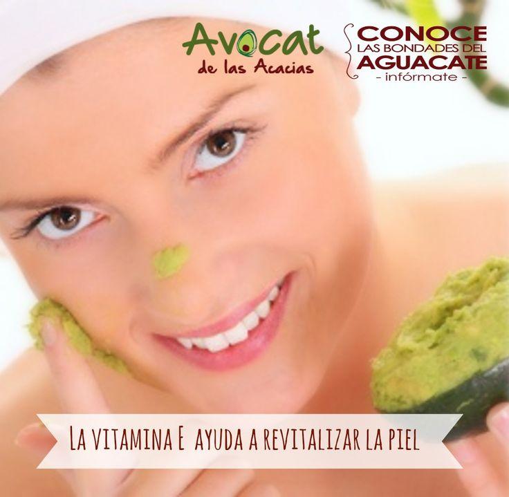 Los aguacates son una gran fuente de vitamina E, la cual ayuda a revitalizar la piel haciéndola suave y flexible. #Aguacate #Salud #Belleza
