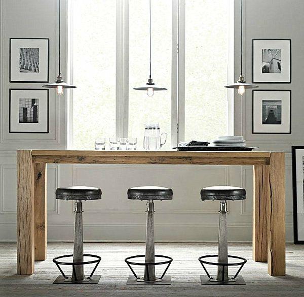 les 25 meilleures id es de la cat gorie comptoir bar industriel sur pinterest bar hall. Black Bedroom Furniture Sets. Home Design Ideas