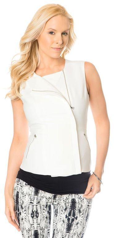 A Pea in the Pod Bcbg Max Azria Zip Front Maternity Vest