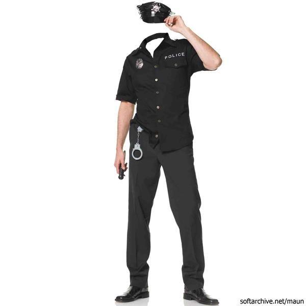 Детский костюм для фотошопа полицейского