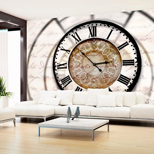 Vlies Fototapete 350x245 cm ! Top - Tapete - Wandbilder XXL - Wandbild - Bild - Fototapeten - Tapeten - Wandtapete - Wand - Zeit UHR Clock 10110905-100: Amazon.de: Küche & Haushalt