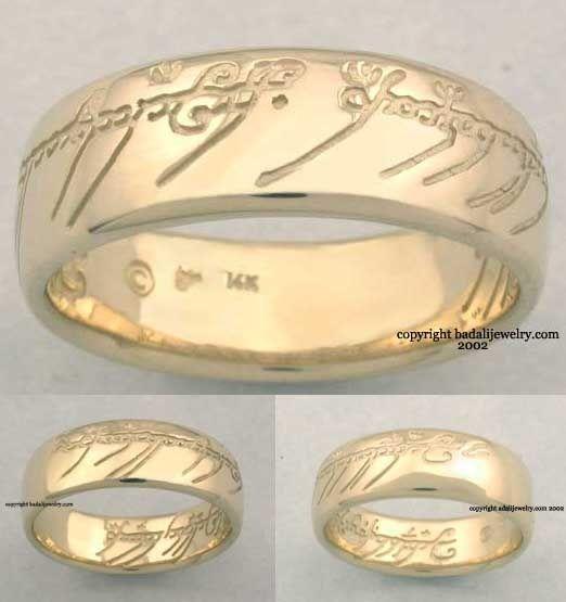 lotr wedding ring wedding lordoftherings hobbit nerdy