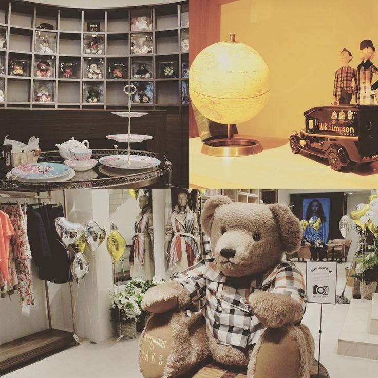DAKS銀座ショップ 住所:東京都中央区銀座4-3-13 販売商品:レディースウェア、メンズウェア(インポート)、バッグ、アクセサリー類 #DAKS #銀座 #銀座4丁目 #テディベア #レオナルド #ビッグテディベア #アフタヌーンティー
