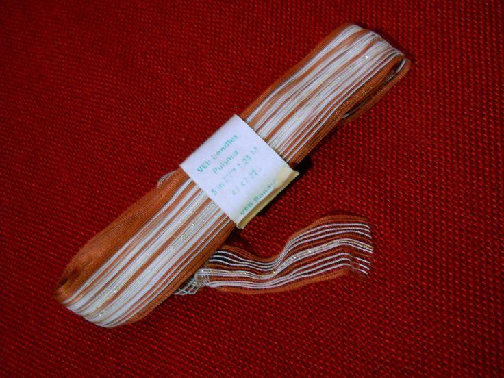 5 meter original ddr geschenkband braun veb bandtex pulsnitz 1970er 1980er jahre • EUR 3,20 - PicClick DE