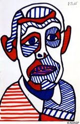 Hands, Head 'n Heart in the Artroom: Self-Portraits in the style of Jean Dubuffet