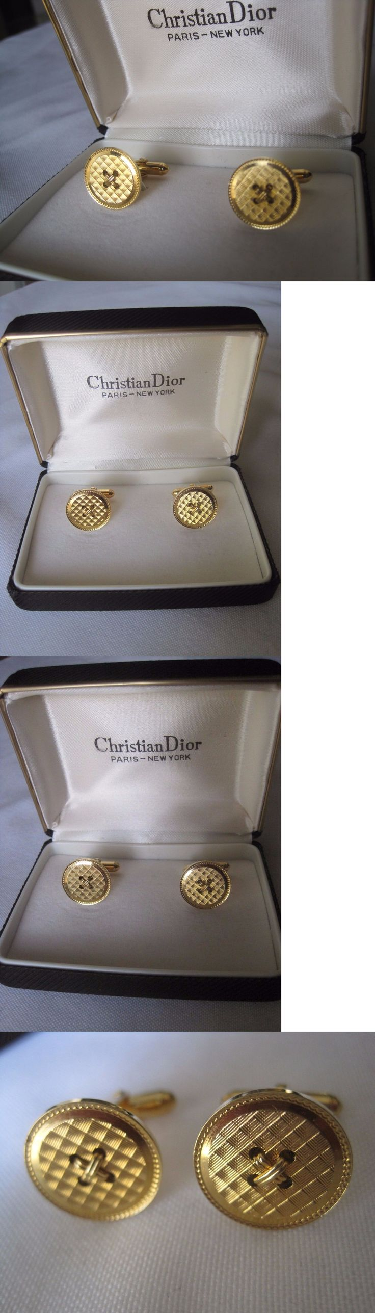 Cufflinks 137843: Christian Dior Goldtone Buttonstyle Cufflinks, New Old  Stock