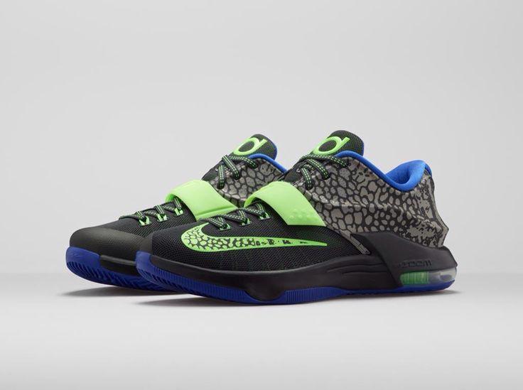 green foamposites blue kd sneakers