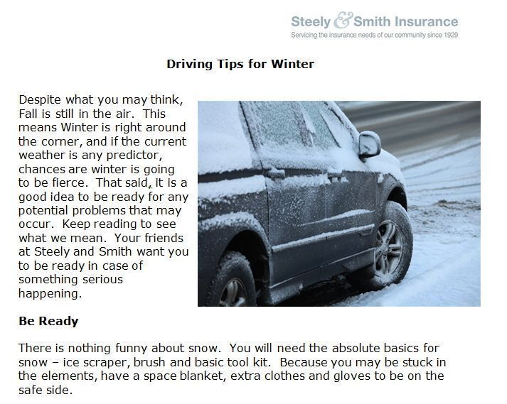 Http Www Steelyandsmith Com Driving Tips Winter We At Steely
