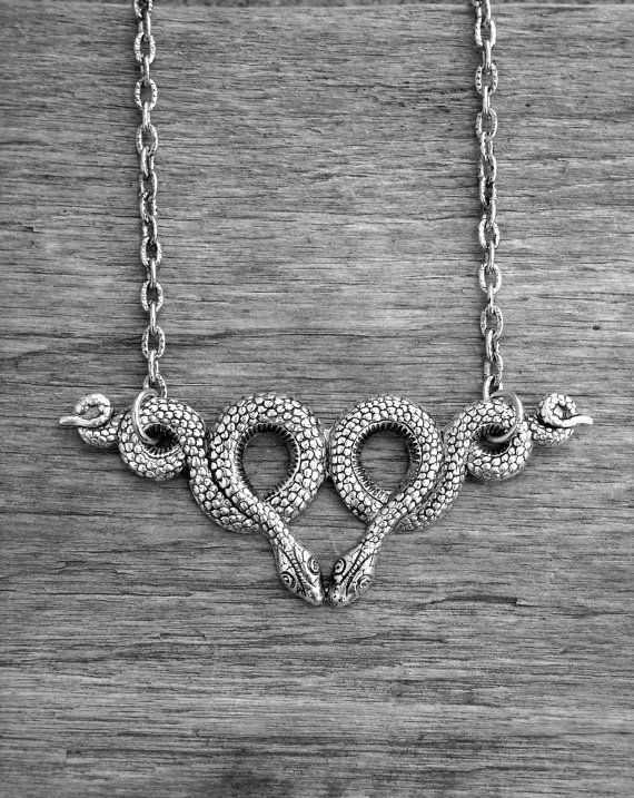 Silver Snake Necklace by Ink & Roses 13