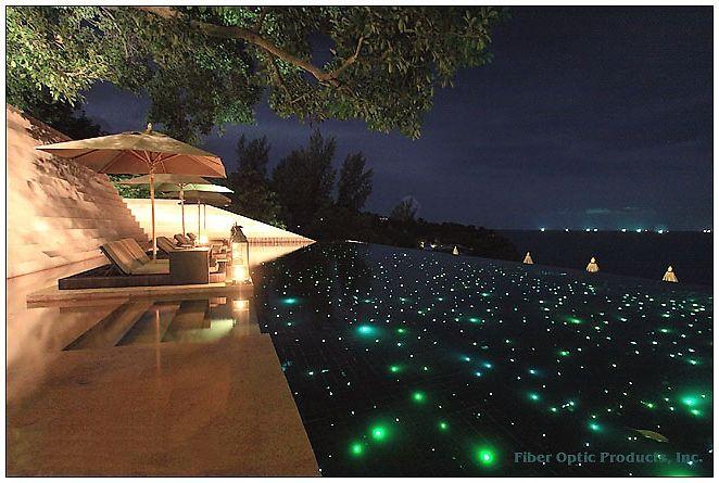 Fiber optic pool lighting my future home pinterest underwater pools and fiber for Inground swimming pool light fixture