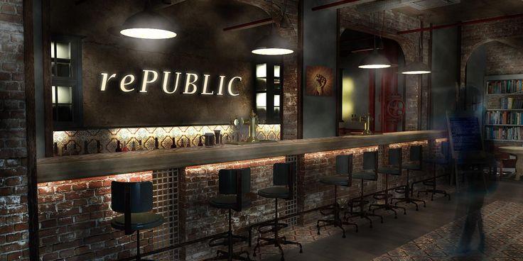 Pub interior design republica for Interior design agency edinburgh