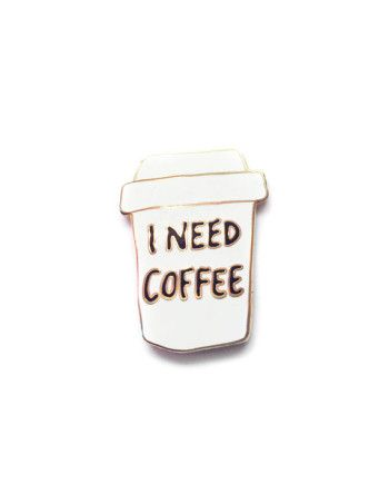 Jolly Awesome Coffee Gold Enamel Pin