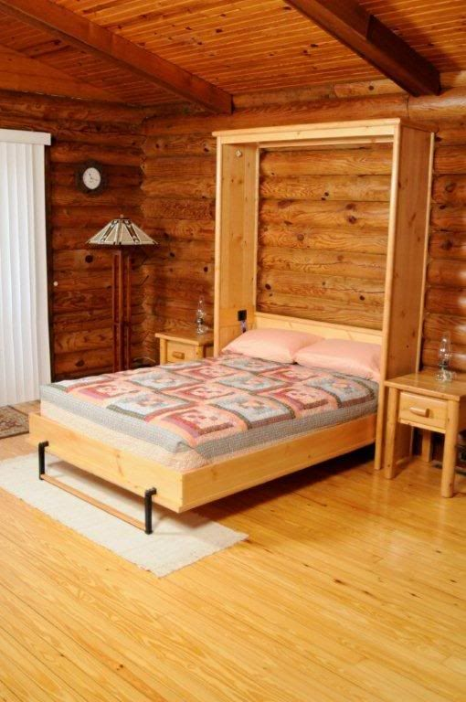 Knotty Pine Murphy Bed Opened For The Home Bunk Beds