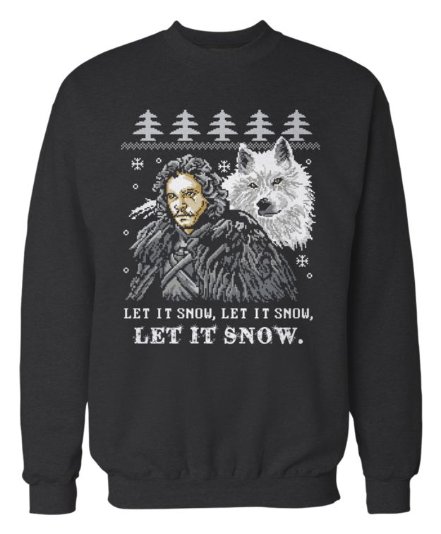 This totally festive Game of Thrones sweatshirt:..... Omg I want this!!