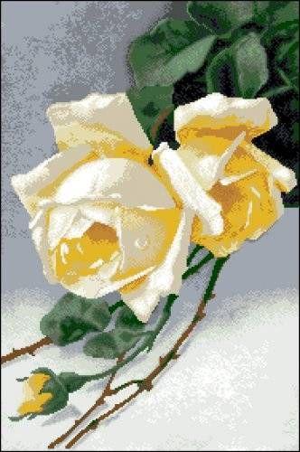 Канва с рисунком Гелиос Ц-012 Розы