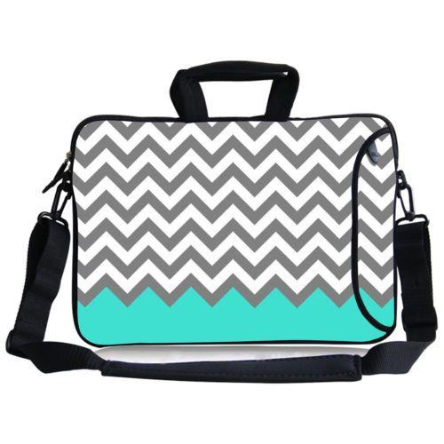 "Waves Laptop Shoulder Sleeve Case Bag For 12.5-13.3"" Macbook Pro / Air HP DELL"