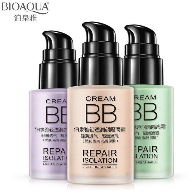 BIOAQUA Facial Foundation Cosmetic Primer Moisturizer Natural Cover Acne BB Cream