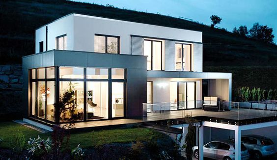 23 best haus hanglage images on pinterest house architecture modern homes and build house. Black Bedroom Furniture Sets. Home Design Ideas