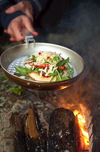 Campfire pizza!
