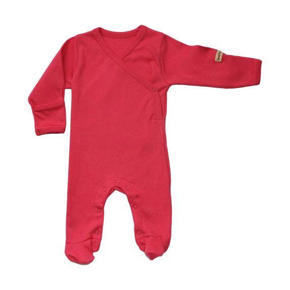 Organic Baby Clothes Baby Pyjamas Baby Pajamas by AmandaAnnBrown on etsy $28